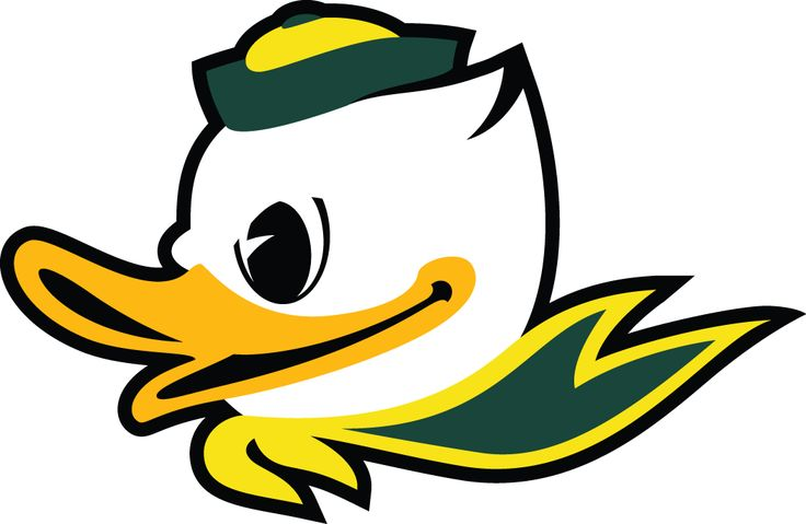 University of Oregon Ducks concept football helmet. Description.