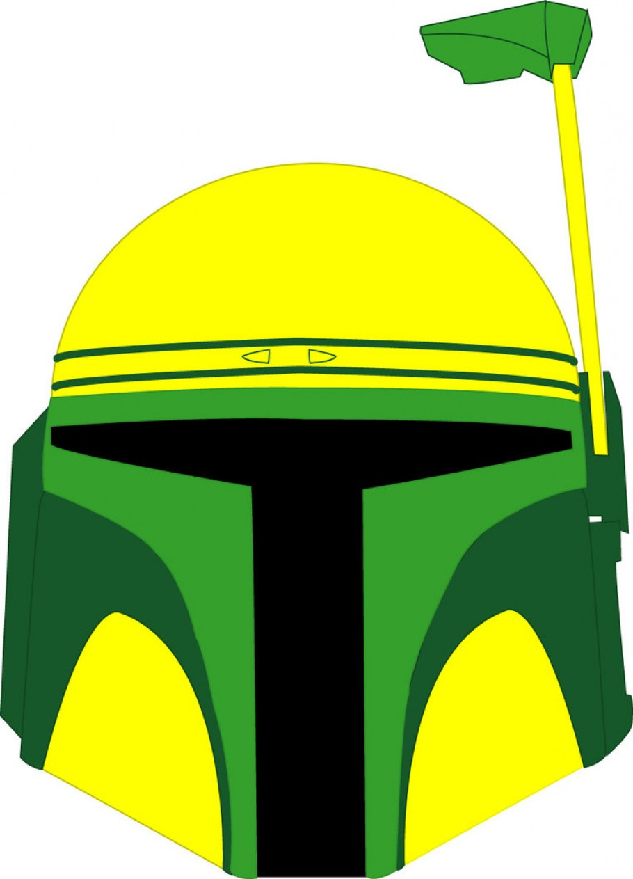 Exclusive Oregon Duck Helmet Clipart Illustration.