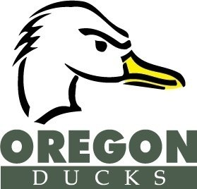 Oregon Ducks logo Clipart Graphic.