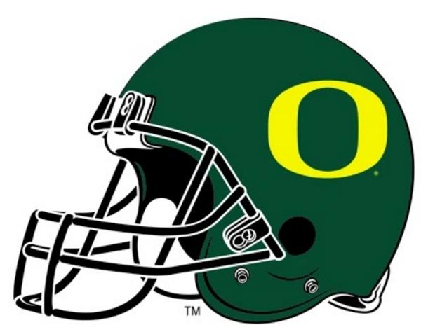 Oregon Duck Helmet Clipart.