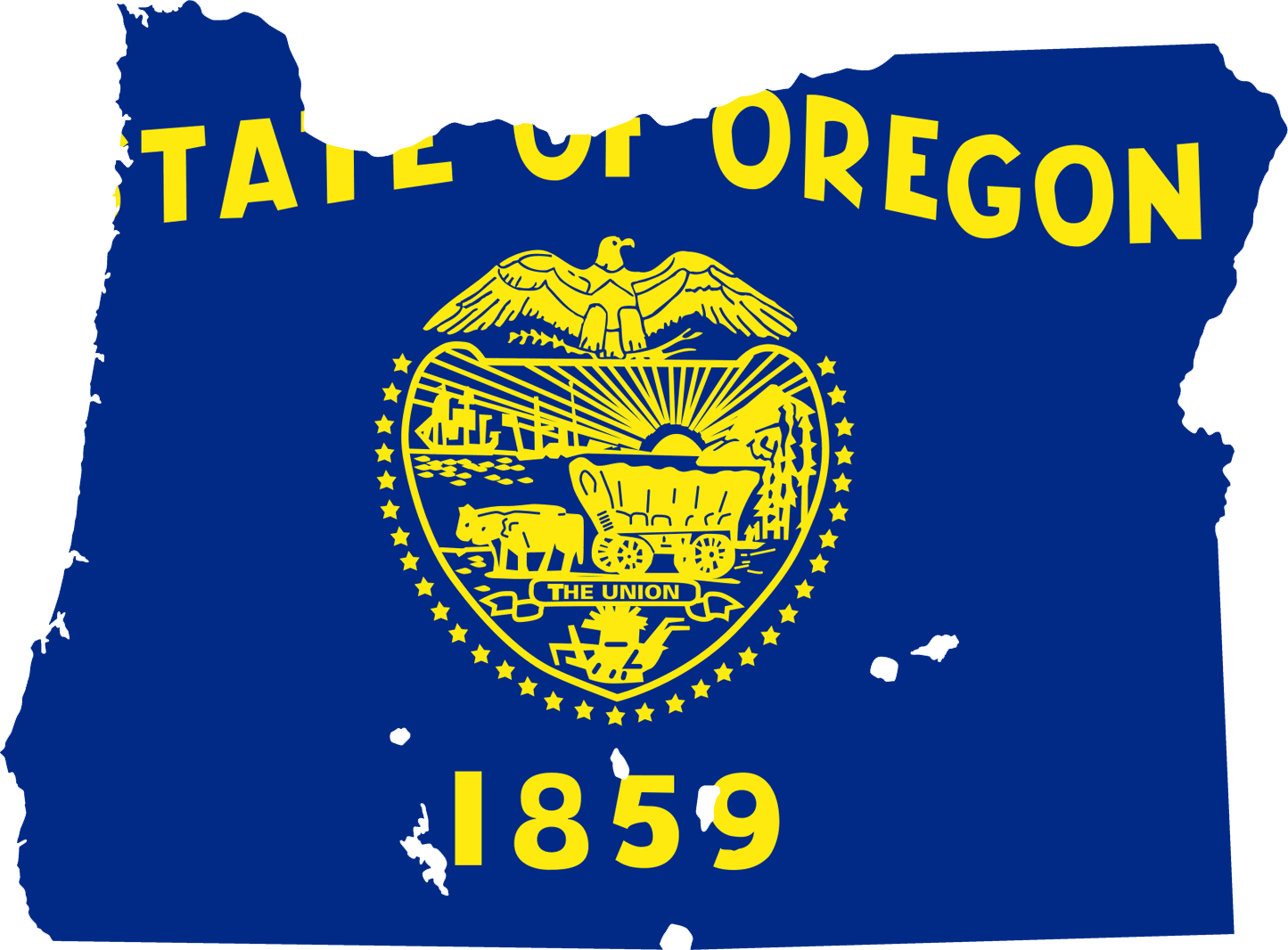Oregon Flag Map • Mapsof.net.