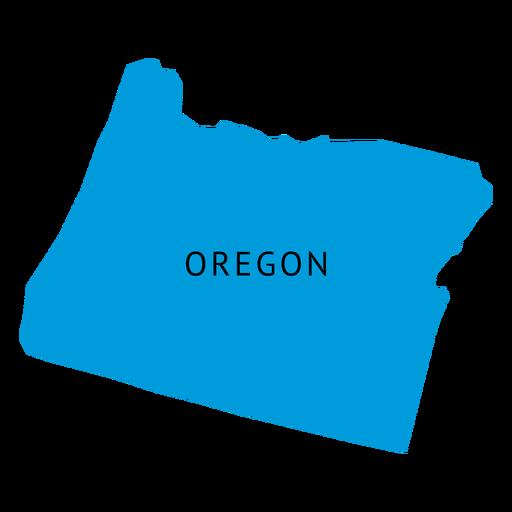Oregon state plain map.