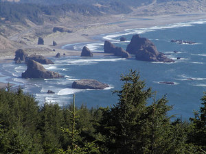 Oregon coast clipart.