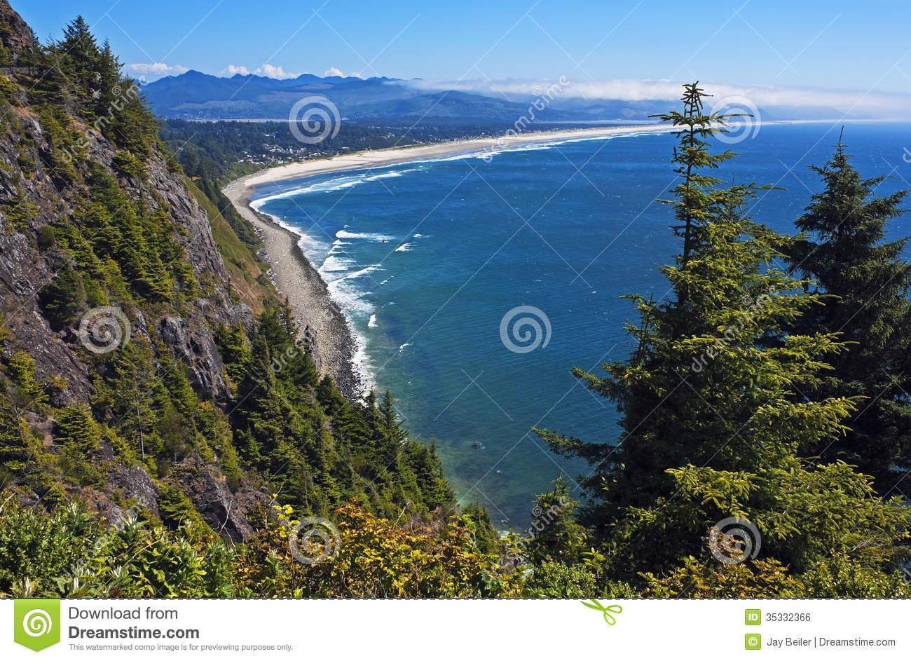 Oregon Coast Vista Royalty Free Stock Image.
