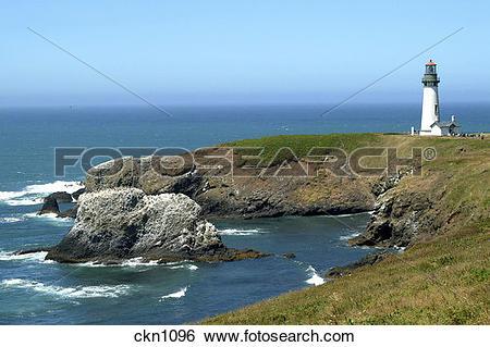 Stock Images of Oregon coast lighthouse ckn1096.