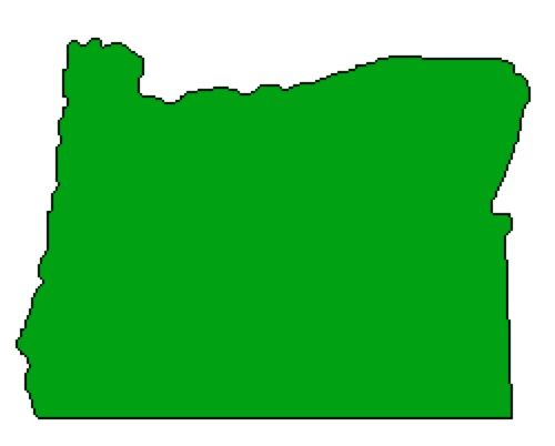 Outline Of Oregon State Map.