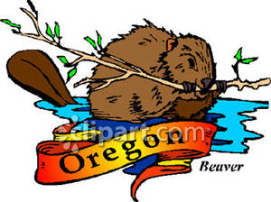 Oregon State Beaver Clipart.