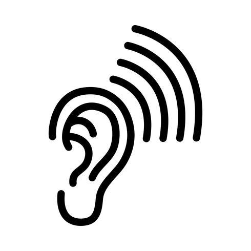 Icône de vecteur d'oreille.