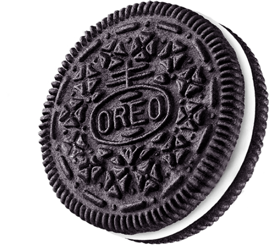 Large Oreo Side View transparent PNG.