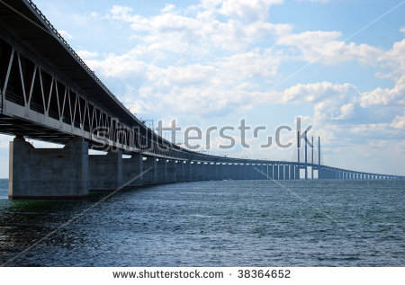 Oresund Bridge Stock Photos, Royalty.