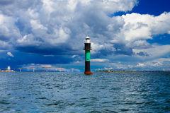 Buoy. Oresundsbron. Oresund Bridge Link Denmark Sweden Baltic Sea.