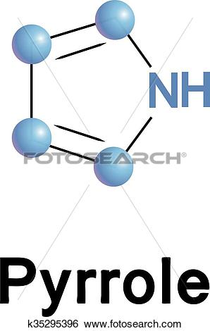 Clip Art of Pyrrole organic compound. k35295396.
