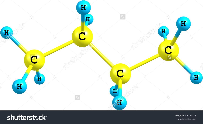 Butane Organic Compound Formula C4h10 That Stock Illustration.