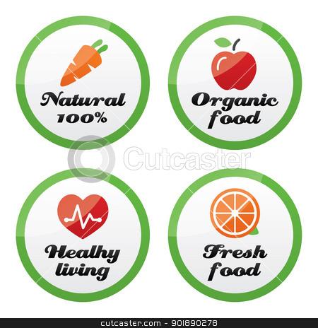 Organic food clipart.
