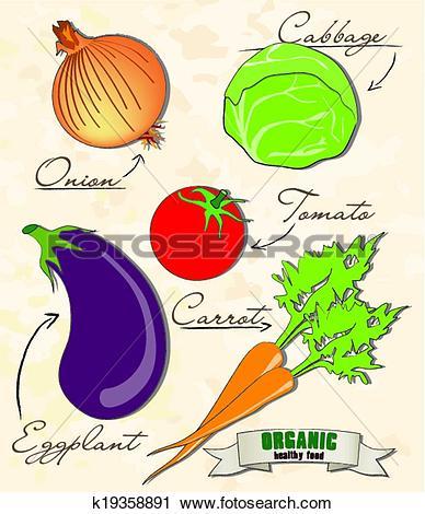 Clipart of Organic food k19358891.