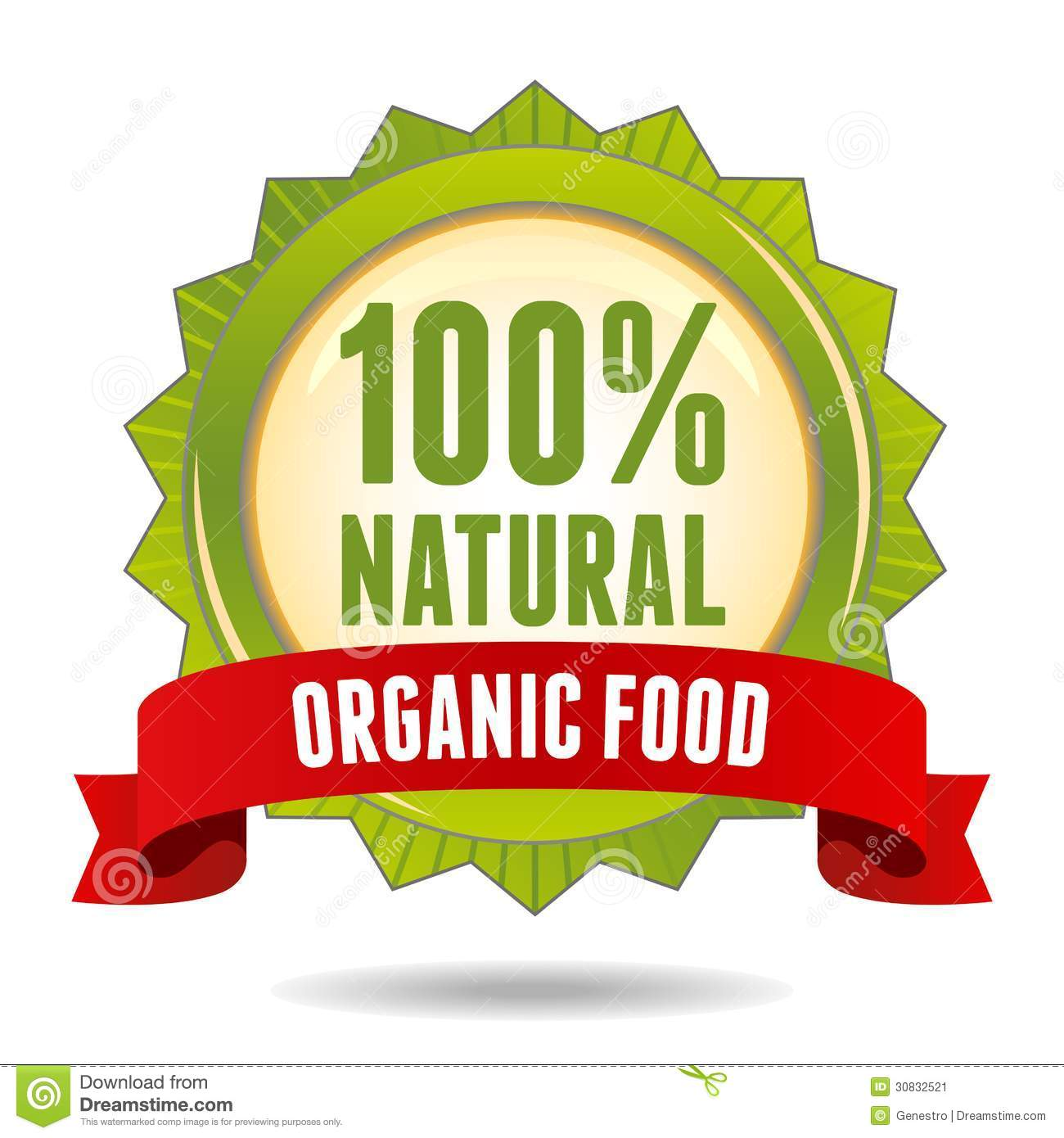 Organic Food Badge Stock Image.