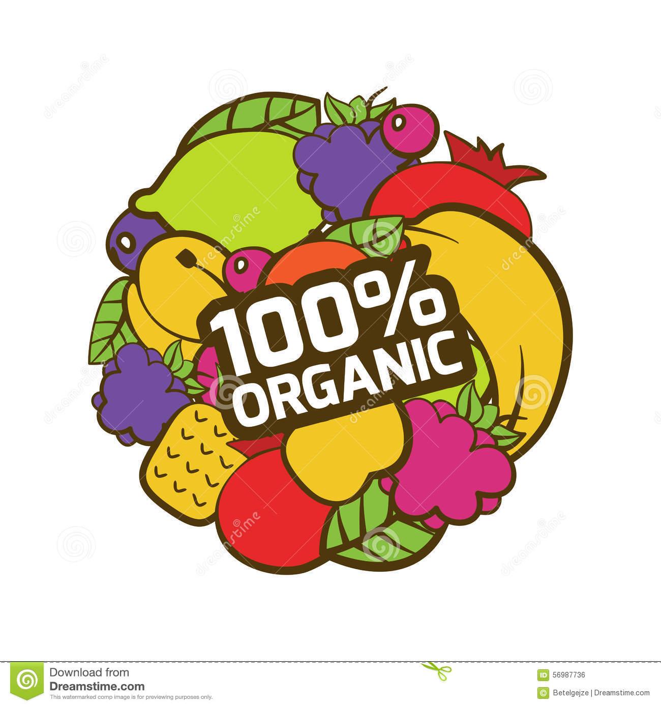 Set Of Multicolor Fruits In Circle Shape. Natural Organic Food L.
