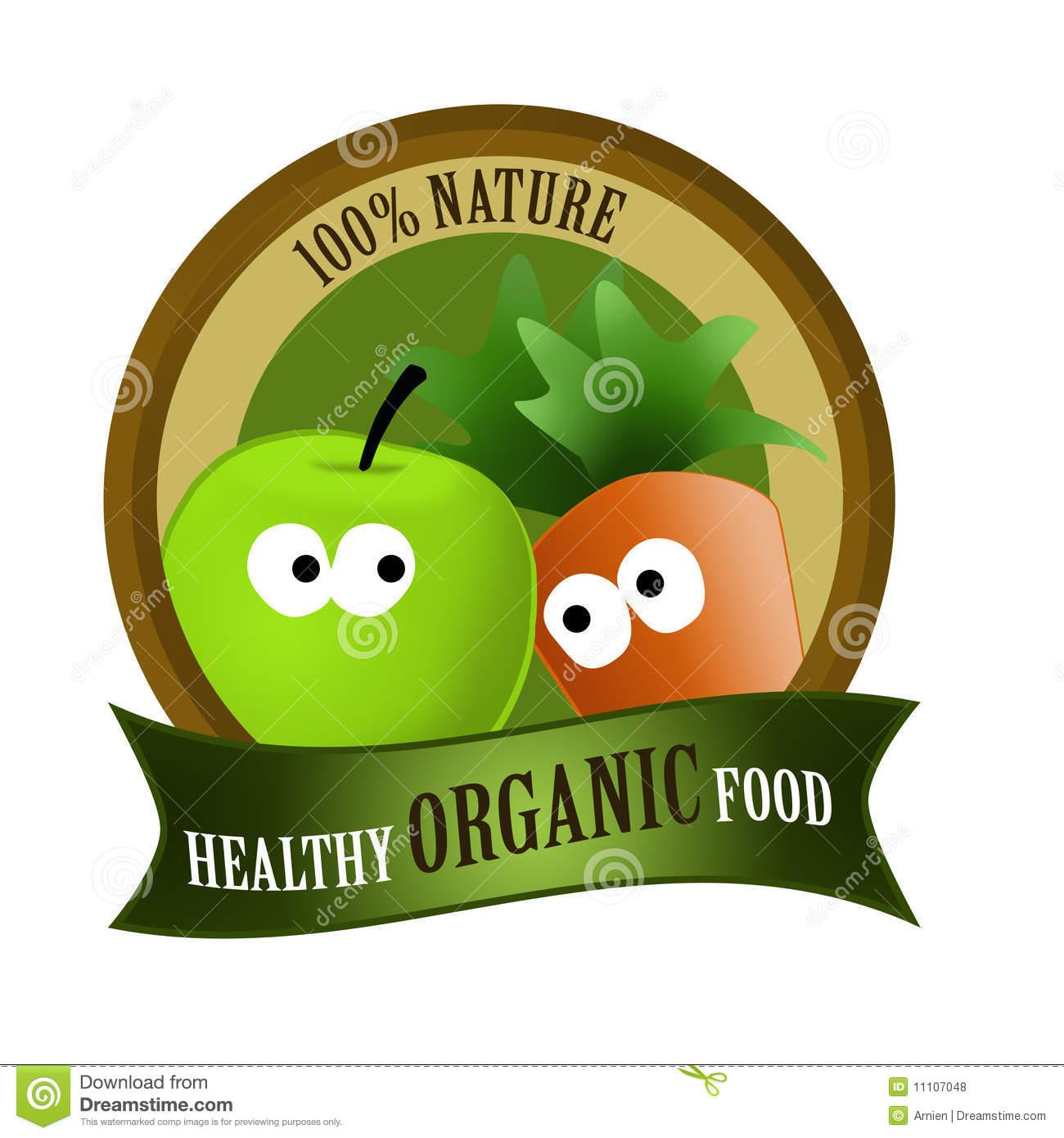 Organic Food Healthy Royalty Free Stock Photos.