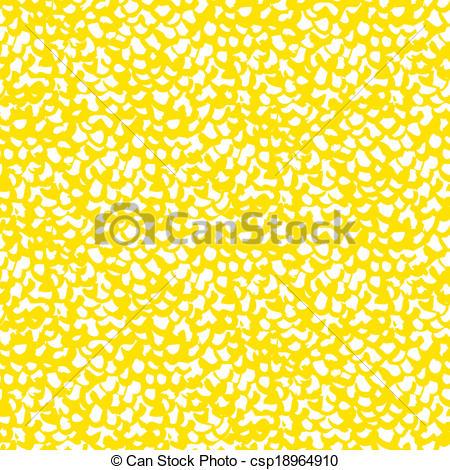 Vector Clip Art of Vector organic pattern in bright yellow.
