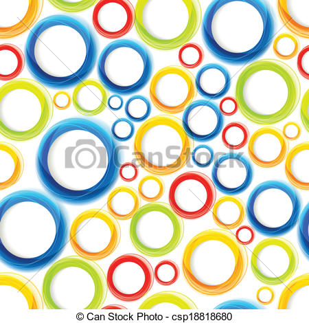 Vector of Seamless organic pattern with bright colorful circles.