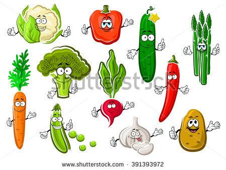 Vegetable Cartoon Stock Photos, Royalty.