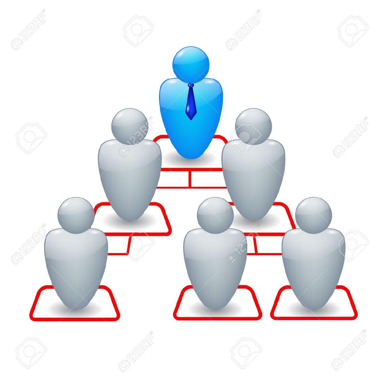 Organisation structure clipart.