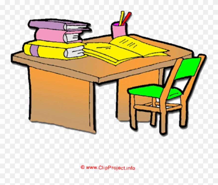 Clip Download Organized Desk Clipart.