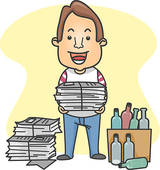 Organized person clipart.