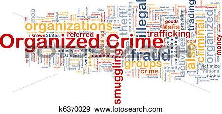 Stock Illustration of Organized crime background concept k6370029.