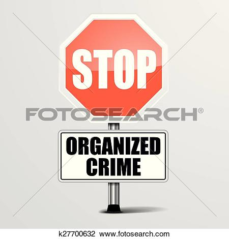 Clipart of Stop Organized Crime k27700632.