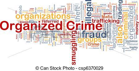 Stock Illustration of Organized crime background concept.