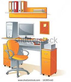 Related Keywords & Suggestions for Organized Office Desk Clipart.