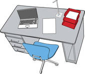 Office desk Clip Art EPS Images. 18,697 office desk clipart vector.