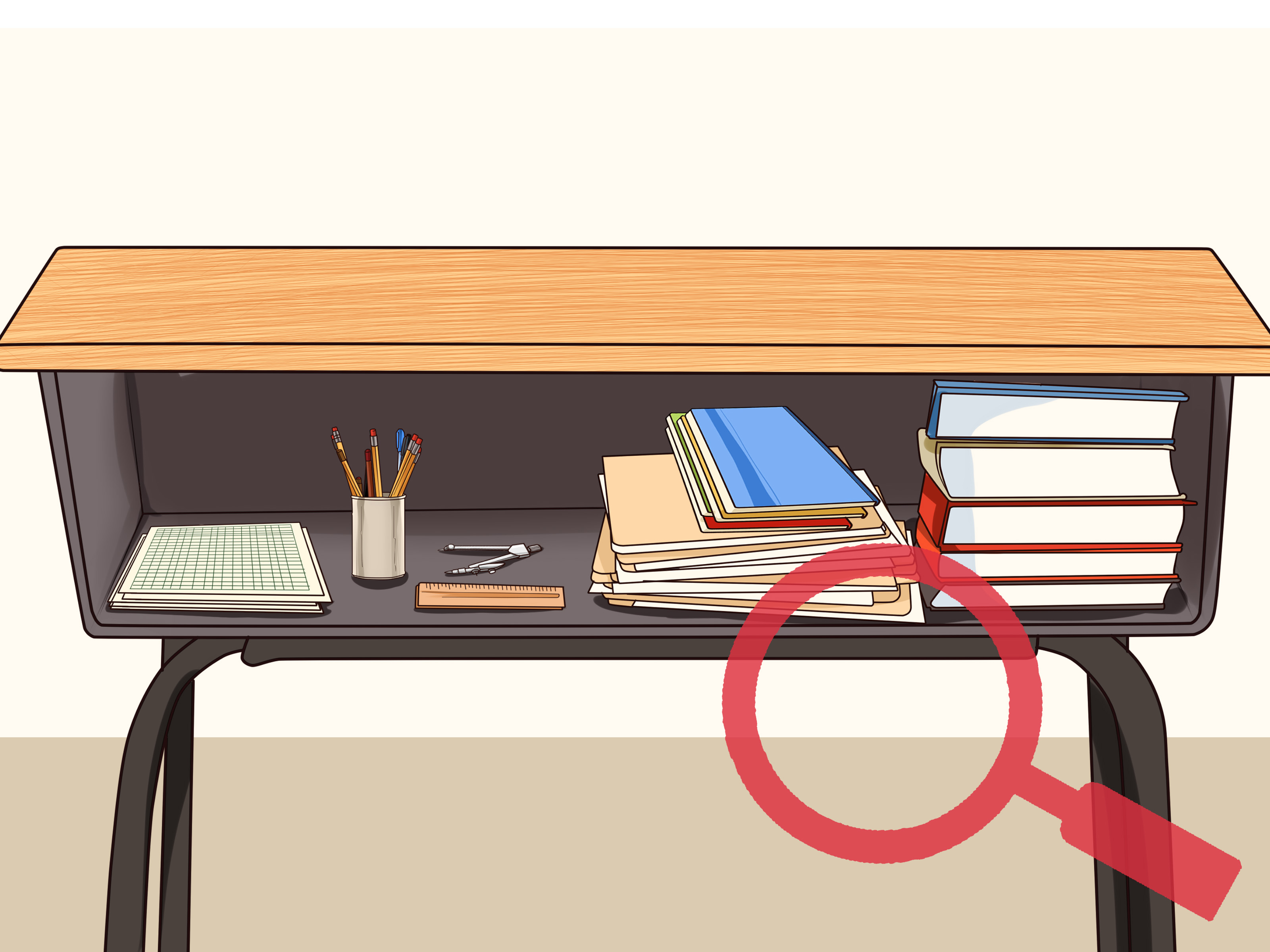 How to Organize Your School Desk: 9 Steps (with Pictures).