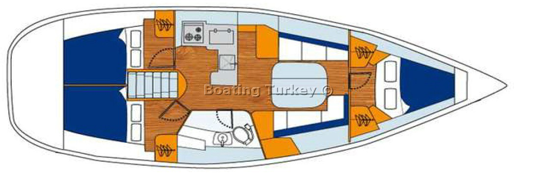Oceanis 373 (Orhaniye) Bareboat BT.