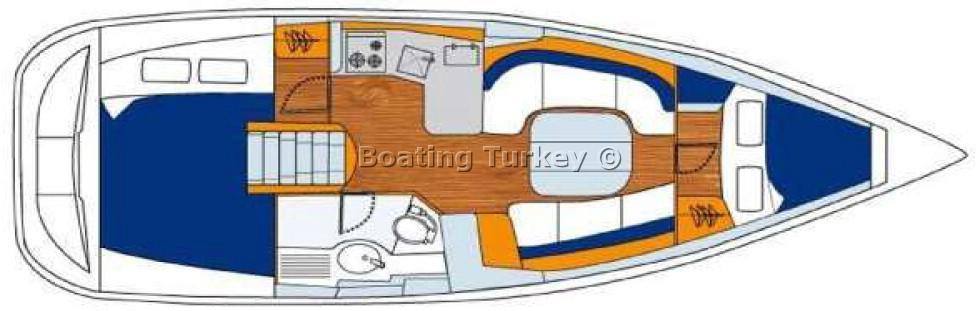 Oceanis 343 (Orhaniye) Bareboat BT.
