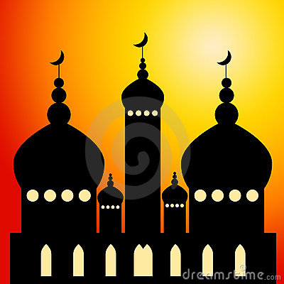 Temple With Minarets Stock Photo.