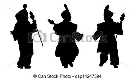Stock Illustration of silhouettes of little prince from orient.