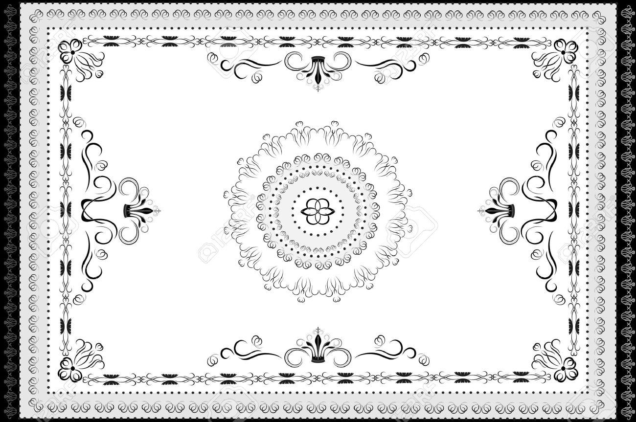 Oriental Rug Clip Art.
