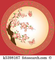 Oriental cherry Clipart Vector Graphics. 1,694 oriental cherry EPS.