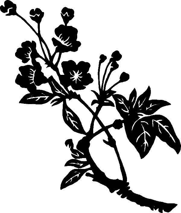 Oriental Flowers Images Clipart.
