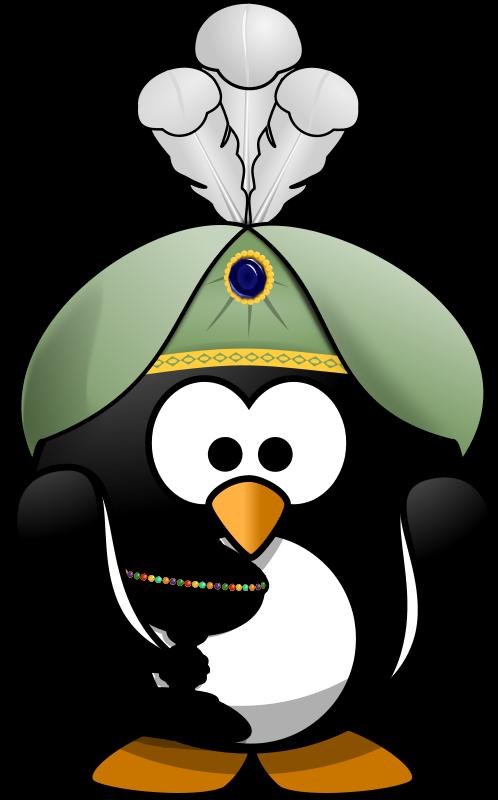 Free Clipart: Oriental Penguin 2.