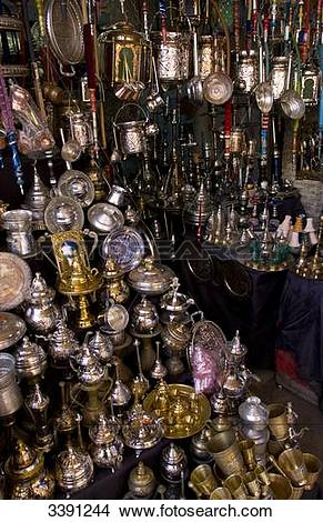 Stock Photo of Oriental market, Kairovan, Tunisia, Africa 3391244.
