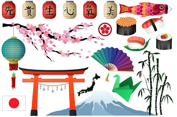 Japanese & Asian Clipart Vector, PNG ~ Illustrations on Creative.