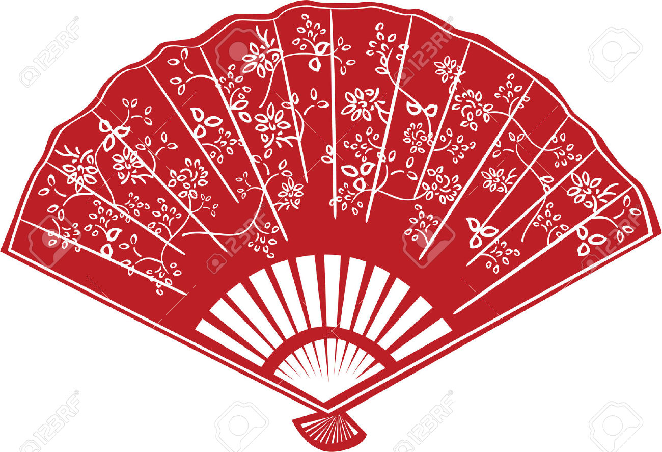 Chinese fan clipart.