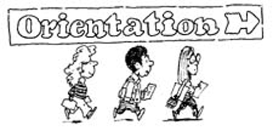 Orientation clip art.