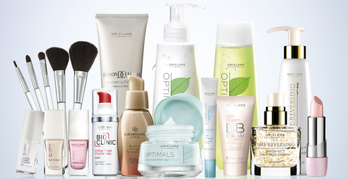 Oriflame Skin care products.