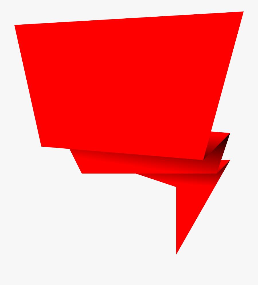 Origami Banner Vector.