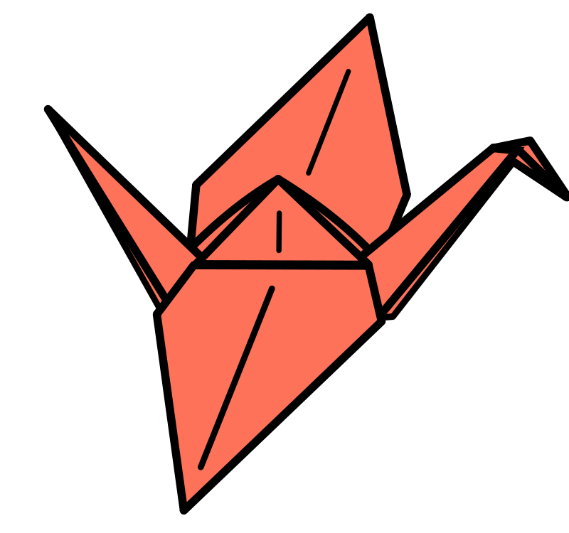 Free Clipart: Origami Crane.