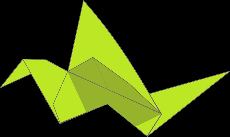 Origami flying bird large 900pixel clipart, Origami flying bird.